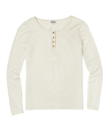 Rich Cream Super-Soft Henley - Girls
