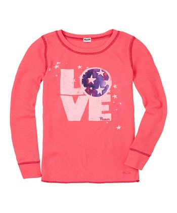 Bright Rose 'Love' Thermal - Girls