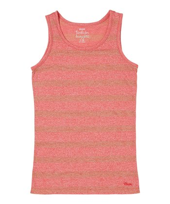 Flame Stripe Shine Tank - Girls