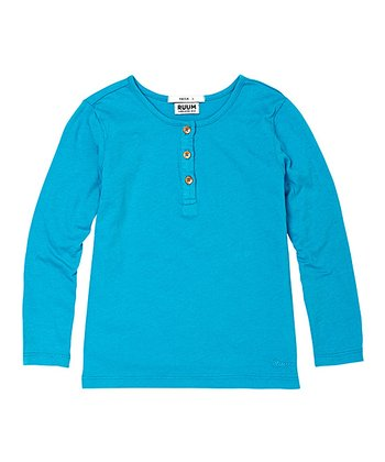Deep Turquoise Super-Soft Henley - Infant & Toddler