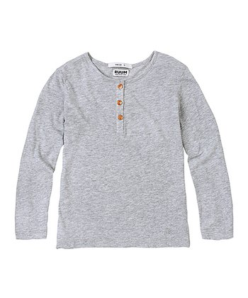 Light Heather Gray Super-Soft Henley - Infant & Toddler