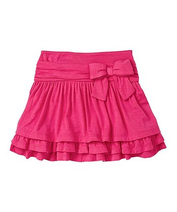 Electric Pink Bow Skater Skirt - Infant & Toddler
