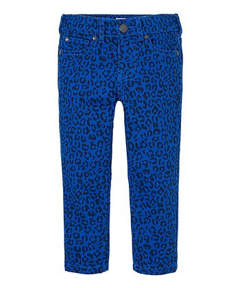 Varsity Blue Leopard Skinny Pants - Infant & Toddler