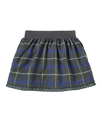 Navy Plaid Eyelet Skirt - Infant & Toddler