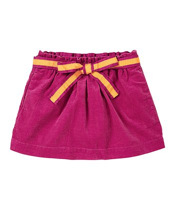 Deep Mauve Bow Corduroy Skirt - Infant & Toddler