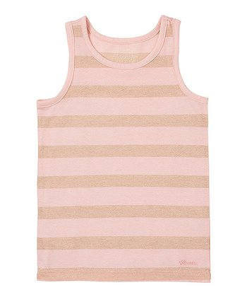 English Rose Stripe Lurex Tank - Infant & Toddler