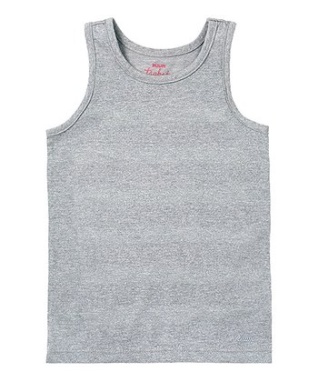 Light Heather Gray Stripe Lurex Tank - Infant & Toddler