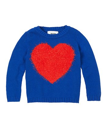 Varsity Blue Heart Sweater - Infant & Toddler