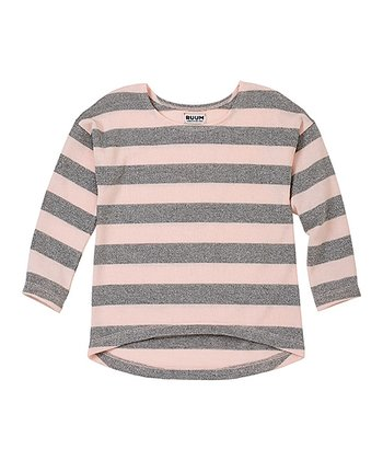 English Rose Stripe Shine Hi-Low Sweater - Infant & Toddler