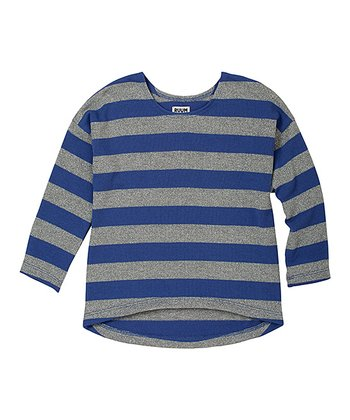 Rebel Purple Stripe Shine Hi-Low Sweater - Infant & Toddler