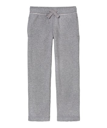 Heather Gray Fleece Pants - Boys