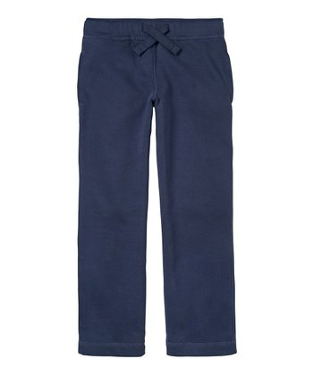 Navy Fleece Pants - Boys