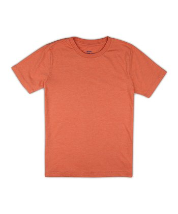 Washed Orange Heather Crew Tee - Boys