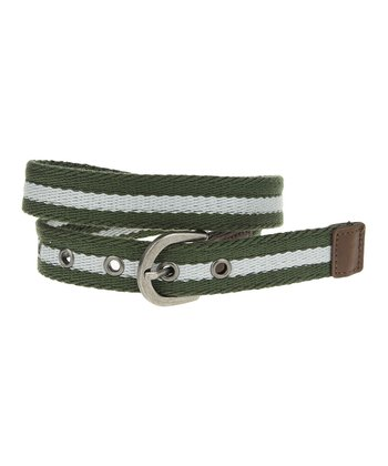 Army Green Stripe Belt