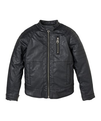 Black Motorcycle Jacket - Infant, Toddler & Boys