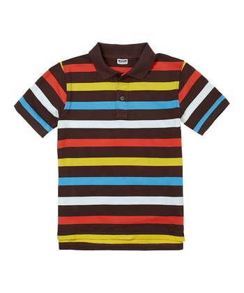 Chocolate Stripe Polo - Boys