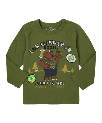Army Green Lumberjack Tee - Infant, Toddler & Boys