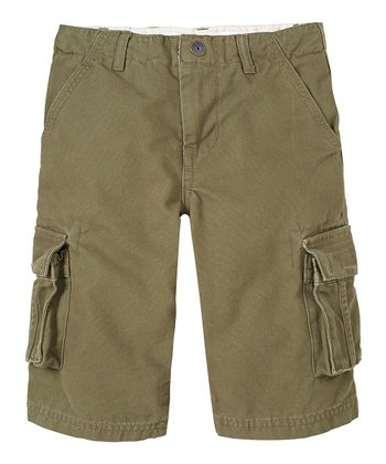 Olive Drab Cargo Shorts - Boys