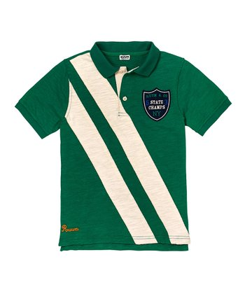 Deep Kelly Green Stripe Polo - Toddler & Boys