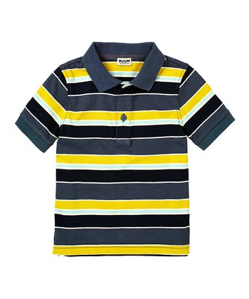 Ink Blue Stripe Polo - Infant, Toddler & Boys