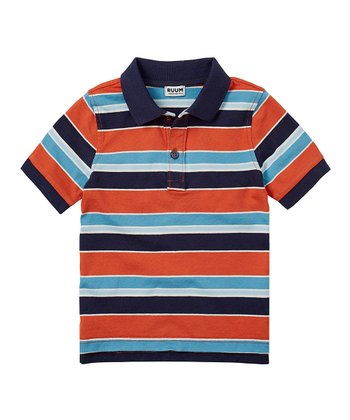 Burnt Orange Stripe Polo - Infant, Toddler & Boys