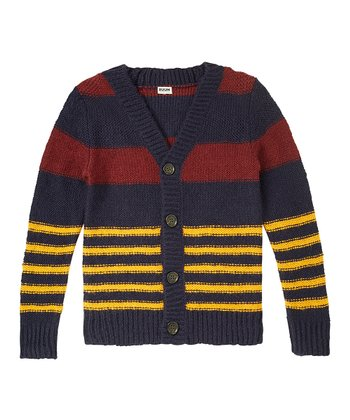 Navy Stripe Cardigan - Boys
