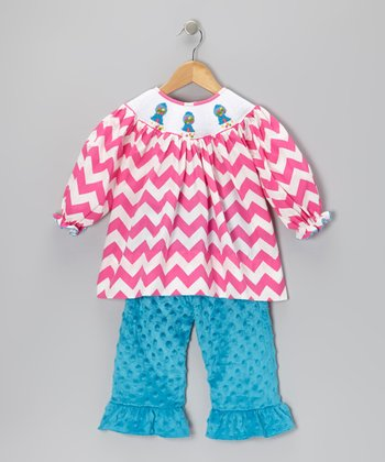 Pink Bishop Top & Minky Ruffle Pants - Infant, Toddler & Girls