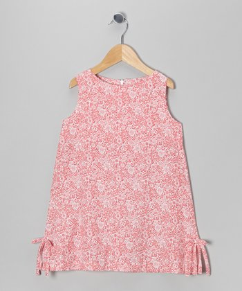 Pink Floral Rachael Swing Dress - Toddler & Girls