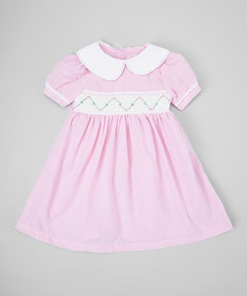 Pink Stripe Smocked Dress - Infant & Toddler