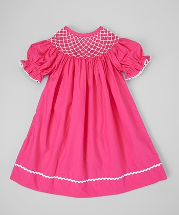 Hot Pink Pearl Bishop Dress - Infant, Toddler & Girls