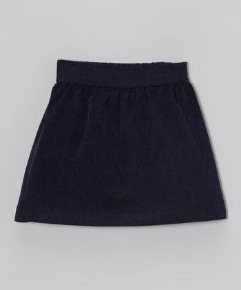 Navy Corduroy Skirt - Toddler & Girls