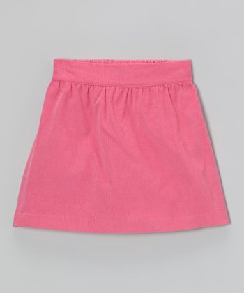 Hot Pink Corduroy Skirt - Toddler & Girls