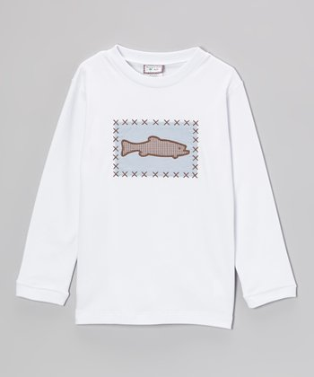 White Fish Appliqué Tee - Boys
