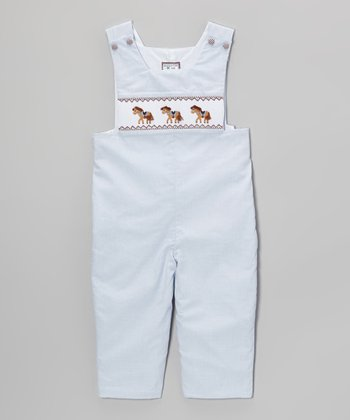 Light Blue Pony Playsuit - Infant & Toddler