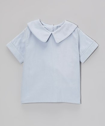 Light Blue Corduroy Collared Top - Toddler & Boys