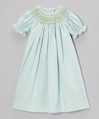 Aqua Emma Bishop Dress - Infant, Toddler & Girls