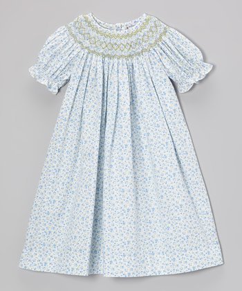 Blue Ella Bishop Dress - Toddler