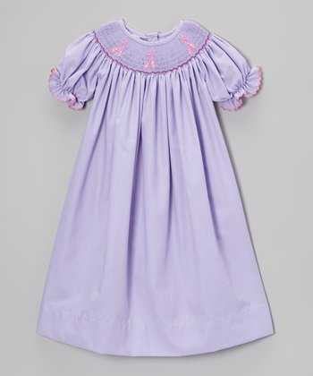 Purple Ballet Shoe Bishop Dress - Infant & Toddler