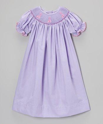 Purple Ballet Shoe Bishop Dress - Infant & Toddler