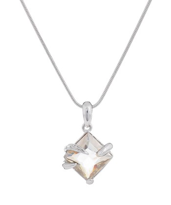 Silver Embrace Pendant Necklace Made With SWAROVSKI ELEMENTS