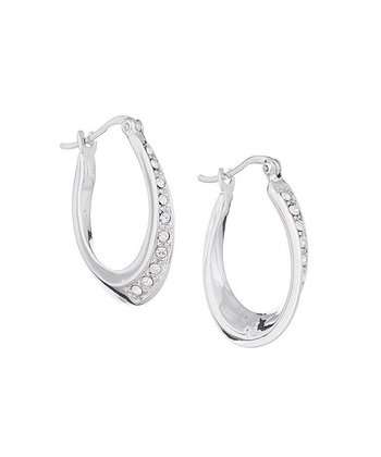 Silver Hoop Earrings Made With SWAROVSKI ELEMENTS