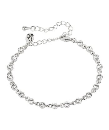 Silver Chain Bracelet Made With SWAROVSKI ELEMENTS