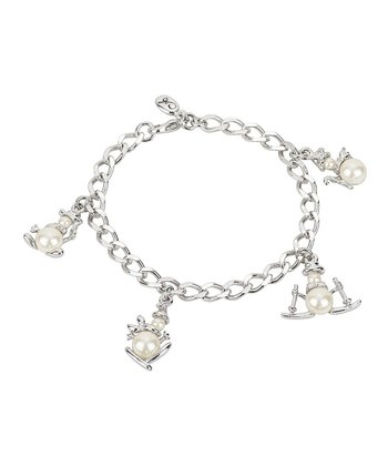 Silver & Pearl Winter Magic Snowman Charm Bracelet