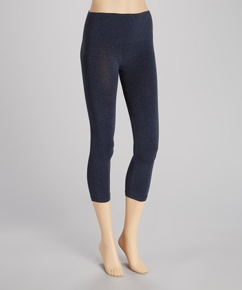 Heather Denim Seamless Shaper High-Waist Capri Leggings