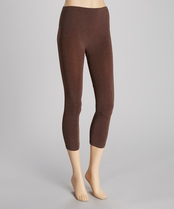 Heather Brown Seamless Shaper High-Waisted Leggings