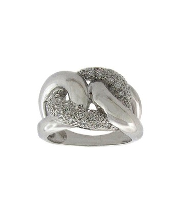 Diamond & Silver Chain-Link Ring