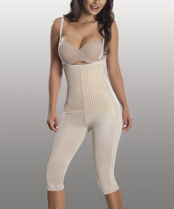 Nude Triconet Shaper Capri Bodysuit - Women & Plus