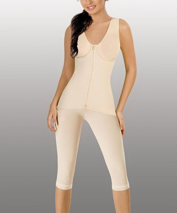 Nude Powernet Built-In Bra Shaper Capri Bodysuit - Women & Plus