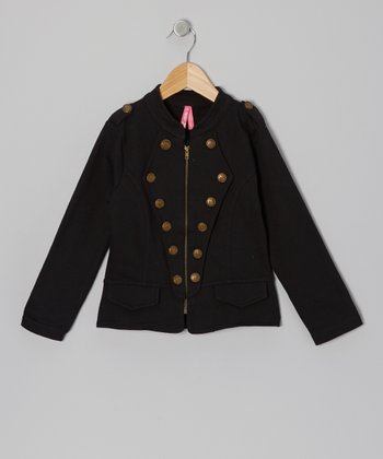 Black Military Jacket - Girls