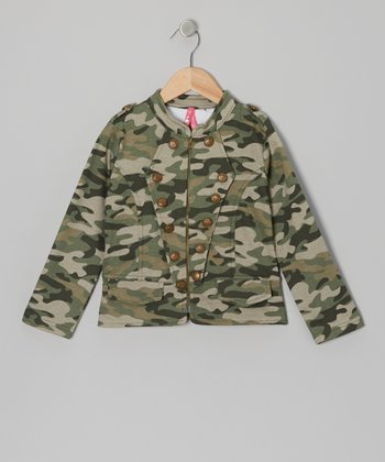 Camouflage Military Jacket - Girls